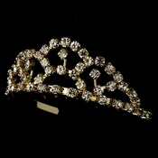 * Gold with Clear Stones Childs Tiara HPC-687