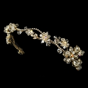 Golden AB Floral Headband HP 7802