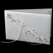 Embroidered Lily Guestbook