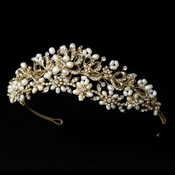 Headpiece 7532 Gold Freshwater Pearl