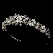 Headpiece 8003 Silver Light Amethyst