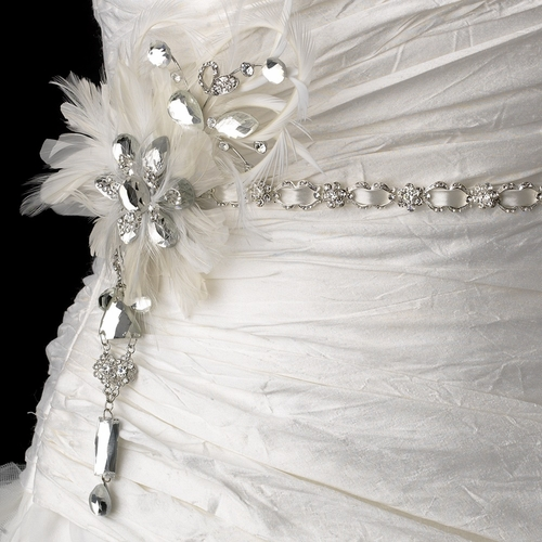 HP 6472 with Couture Clear Crystals Feather Fascinator Clip 8105
