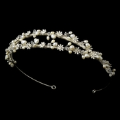 HP 7000 Elegant Fresh water Pearl & Crystal Wired Double Row Tiara