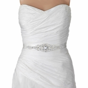 Ivory or Diamond White Silver Rhinestone Crystal Bridal Belt 312