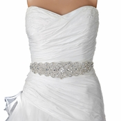Rhinestone Crystal Bridal Belt 315 Sash White or Ivory