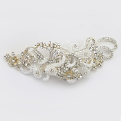 ✧SPECIAL ORDER ONLY✧ Light Gold Baroque Swirl Ribbon Beaded Rhinestone Comb