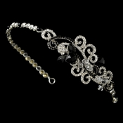 Modern Bridal Headband HP 8101 Black