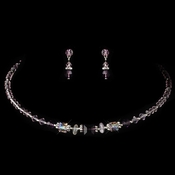 * Necklace Earring Set NE 238 Light Amethyst