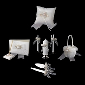 Organza Bow & Rose Reception Set 796