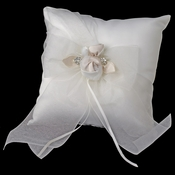 Organza Bow & Rose Ring Pillow 796