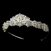 Pearl and Swarovski Crystal Bridal Tiara HP 7026