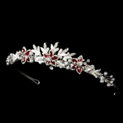 Red Accent Bridal Tiara HP 8100