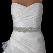 Rhinestone & Beaded Pearl Bridal Belt 314 Sash