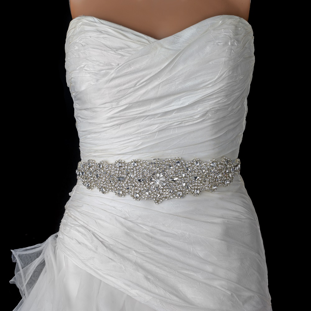 Wedding Dress Belts: Rhinestone Crystal Bridal Belt 315 Sash White Or Ivory