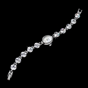 Rhinestone Crystal Bridal Watch 13 Silver