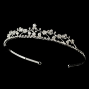 * Rhinestone Floral Bridal Tiara HP 526 (Many Colors)