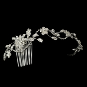 Rhinestone Side Accenting Floral HP-13176