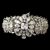 Rhodium Clear Multi CZ Crystal Bracelet 13042
