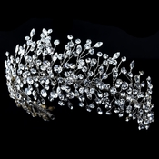 Rhodium Clear Rhinestone Handmade Wired Tiara