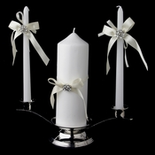 Ribbon & Brooch Unity Candle Set 848