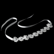 * Ribbon Style Bridal Headband HP 8208 White