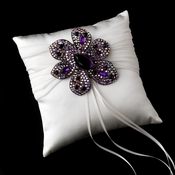 Ring Pillow 11 with Marquise Crystal & Rhinestone Brooch 8798