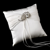 Ring Pillow 11 with Silver Clear Swirl Brooch 112