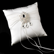 Ring Pillow 11 with Vintage Crystal & Rhinestone Dangle Brooch 8777