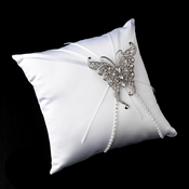 Ring Pillow 16 with Crystals & Rhinestones Butterfly Brooch 74