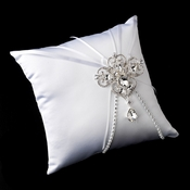 Ring Pillow 16 with Dangling Pear & Marquise Crystal Brooch 44