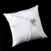 Ring Pillow 16 with Silver Clear Beach Palm Tree Brooch 75
