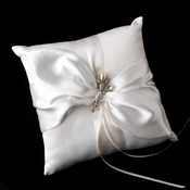 Ring Pillow 17 with Silver Ivory Pearl Lily Flower Brooch 70