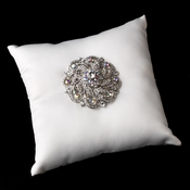 Ring Pillow 9 with Silver Clear AB Swirl Rhinestone Brooch 79