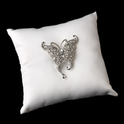 Ring Pillow 9 with Silver Clear Butterfly Brooch 74