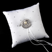 Ring Pillow 92 with Antique Ivory Pearl & Crystal Brooch 92