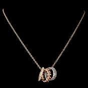 Rose Gold Necklace 76003 w/ Rings