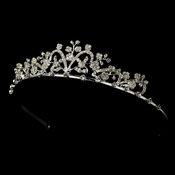 * Silver and Clear Bridal Tiara HP 6101