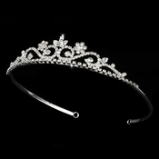 Silver and Clear Stone Tiara HP 6240