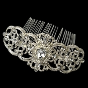 ✧SPECIAL ORDER ONLY✧ Silver Baroque Swirl Rhinestone Comb