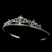 Silver/Clear Bridal Tiara HP 11109