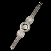 Silver Clear Pave Rhinestone Watch 27