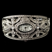 Silver Clear Rhinestone Watch 10