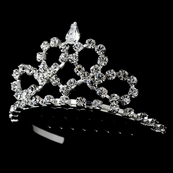 Silver Heart Child's Tiara HPC 683