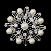 * Silver Ivory Pearl Brooch 144