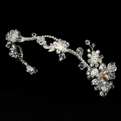 Silver Plated AB Bridal Headband HP 7802
