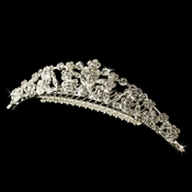 * Silver Plated Floral Bridal Comb 4169 (3 left)