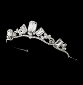 * Silver Princess Rhinestone Majesty Bridal Tiara HP 8277