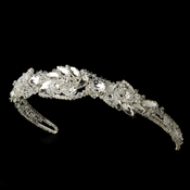 Silver Rhinestone Couture Sensation Bridal Headband - HP 8353