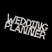 Silver Rhinestone 'Wedding Planner' Brooch 9014