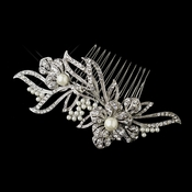 Silver Side Bridal Hair Comb
